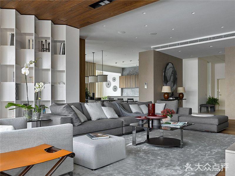 120平米四室兩廳美式風格客廳圖片