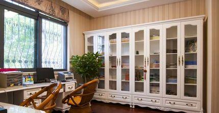 富裕型140平米四室五厅现代简约风格书房装修案例