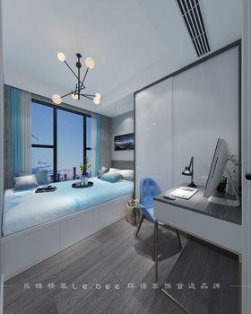 80平米三室兩廳現代簡約風格臥室裝修效果圖