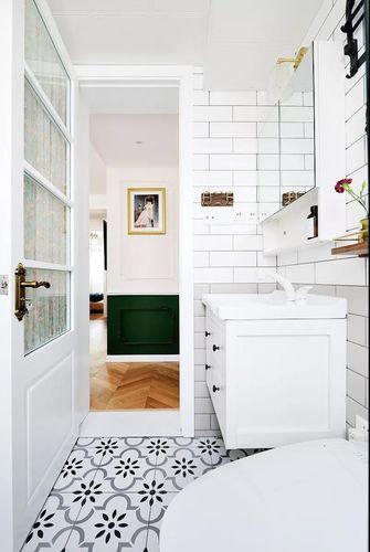 50平米公寓法式风格卫生间图片