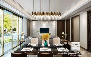 120平米三室两厅现代简约风格餐厅沙发装修案例