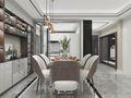 140平米三室一厅中式风格餐厅装修图片大全