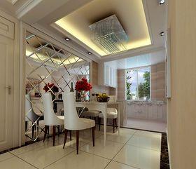 经济型110平米三室一厅欧式风格餐厅效果图