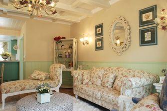 110平米四室一厅田园风格客厅装修效果图