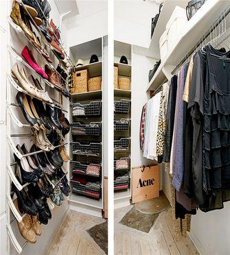 80平米三室一厅北欧风格衣帽间图
