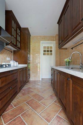 120平米四室兩廳美式風格廚房欣賞圖
