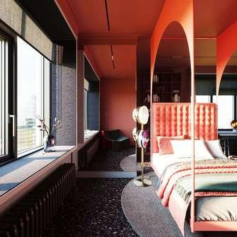 140平米四室两厅美式风格阳台效果图
