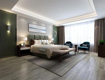 140平米三室三厅现代简约风格卧室背景墙装修图片大全