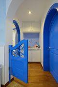 70平米公寓地中海风格走廊图片