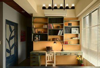 100平米三室两厅田园风格书房图