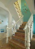 15-20万140平米别墅地中海风格楼梯欣赏图