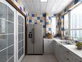 130平米四地中海风格厨房设计图