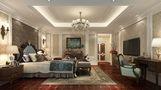 豪华型140平米别墅欧式风格卧室背景墙效果图