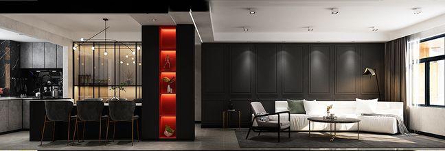 130平米三混搭风格客厅欣赏图