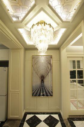 140平米三室一厅混搭风格玄关图片