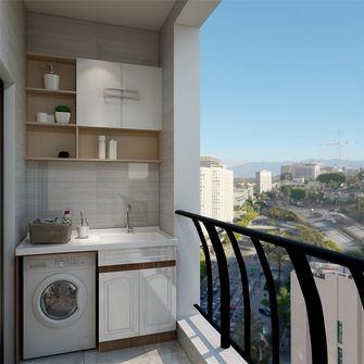 80平米三室两厅北欧风格阳台装修图片大全