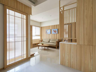 100平米一室一厅日式风格客厅欣赏图