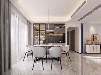 130平米三室三厅现代简约风格餐厅装修图片大全