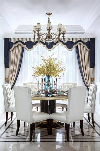 130平米一室一厅法式风格餐厅图片大全