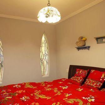110平米三室一厅田园风格卧室装修图片大全