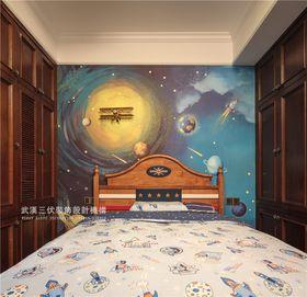 富裕型140平米四室兩廳中式風格兒童房圖