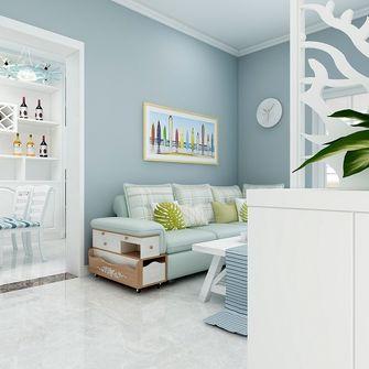 90平米地中海风格客厅图片