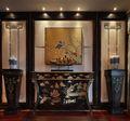80平米三室一厅新古典风格玄关效果图