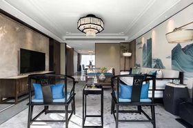 130平米复式中式风格客厅装修效果图