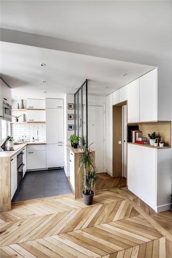 60平米公寓现代简约风格厨房装修图片大全