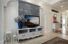 110平米三室三厅田园风格客厅图