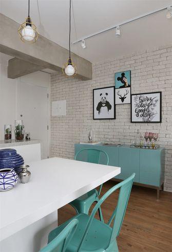 80平米三室一厅北欧风格餐厅图