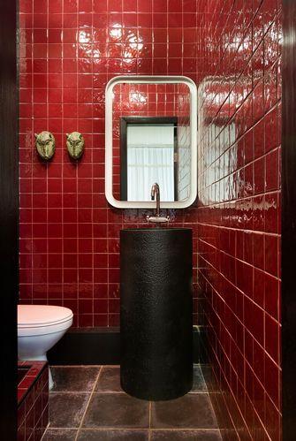 140平米复式混搭风格卫生间设计图