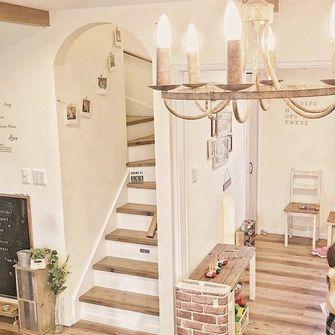 90平米田园风格楼梯间效果图