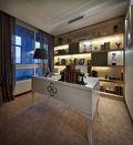 80平米三室两厅现代简约风格书房橱柜装修案例