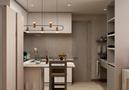 60平米一室一厅混搭风格厨房效果图