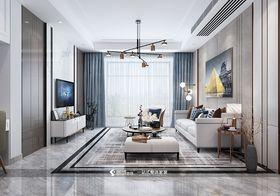 120平米三室兩廳現代簡約風格客廳圖片大全