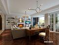 140平米四室两厅美式风格阳光房图片