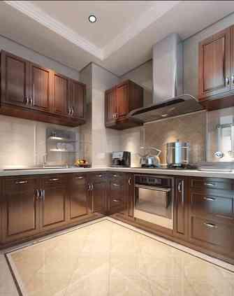 100平米法式风格厨房装修案例