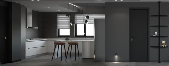 20万以上80平米一居室现代简约风格厨房图片