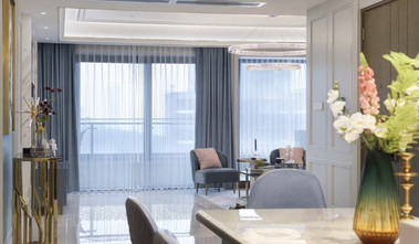 130平米三室两厅欧式风格阳台装修效果图
