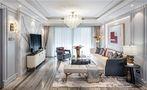 110平米三室三厅混搭风格客厅设计图