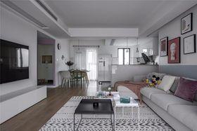 100平米三室一厅现代简约风格客厅装修效果图