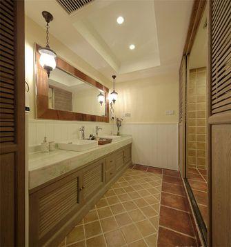 130平米三室一厅田园风格卫生间装修效果图