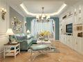 130平米地中海风格客厅图片
