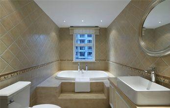 140平米三室一厅田园风格卫生间设计图