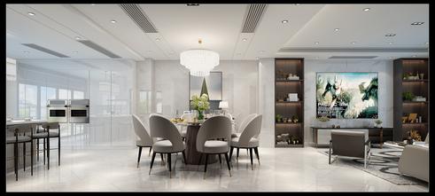 140平米别墅现代简约风格餐厅图片大全
