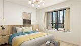 90平米三室一厅田园风格卧室设计图