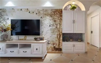 80平米三室一厅美式风格客厅装修案例