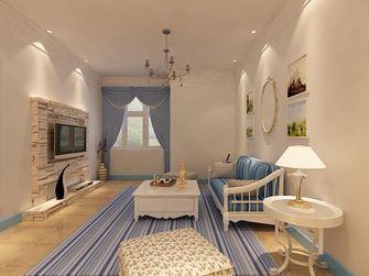 80平米一室两厅地中海风格客厅图片