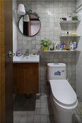 60平米一居室田园风格卫生间图片
